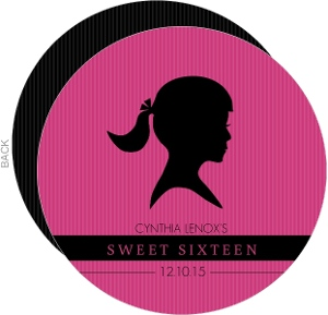 Pink And Black Silhouette Girl Sweet 16 Birthday Invitation