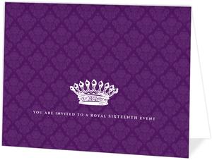 Royal Purple 16 Birthday Invitation