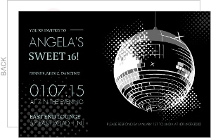 Dancing The Night Away Sweet Sixteen Birthday Invitation