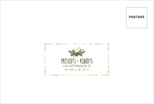 Whimsical Woodland Foliage Mailing Address Envelope