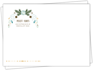 Whimsical Woodland Foliage Custom Envelope
