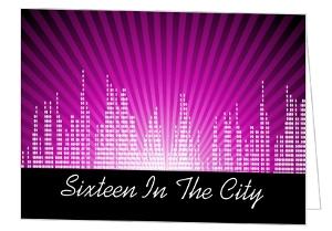 Pink Cityscape Sweet 16Th Birthday Invitation