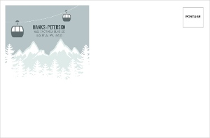 Whimsical Winter Mountains Envelope