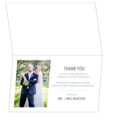 Modern Pastel Geometric Pattern Wedding Thank You Card