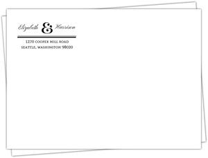 Modern Type Envelope