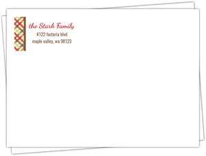 Warm Winter Holiday Pattern Custom Envelope