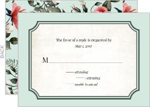 Vintage Rose Response Card