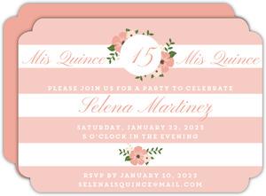 Elegant Stripes Quinceanera Invitation