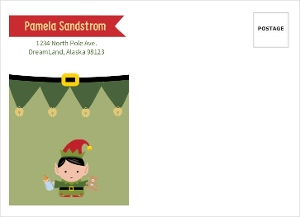 Elfing Cute Holiday Baby Shower Full Custom Envelope