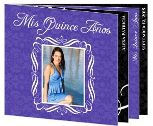 Elegant Purple Pattern Quinceanera Invitation