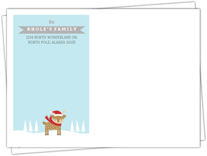 Baby Deer Winter Holiday Full Custom Envelope