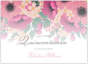 Zebra Print Pink Photo Quinceanera Invitation