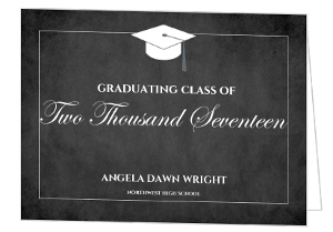 Blackboard Graduation Party Invite