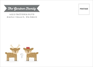 Buck Or Doe Holiday Baby Shoer Full Custom Envelope