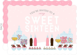 A Very Sweet Sixteen Birthday Party Invitation