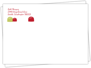 Gingerbread House Holiday Envelope