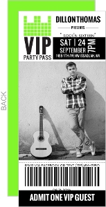 Vip Party Pass Sweet Sixteen Birthday Invitation