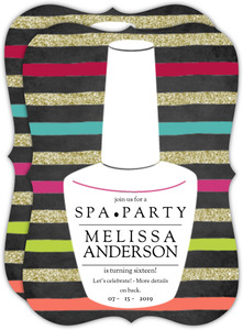 Nail Polish Spa Birthday Party Invitation