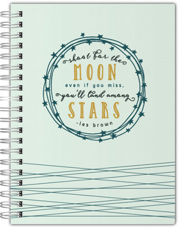 Shoot For The Moon Notebook