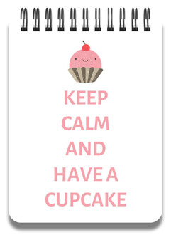 Keep Calm Cupcake Notepad