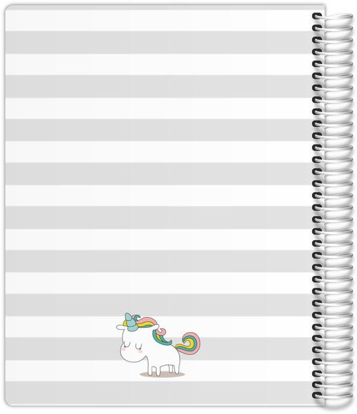 Stripes Unicorn Quote Custom Journal