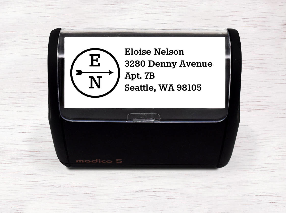 Single Arrow Address Stamp