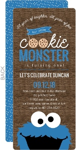 Cookie Monster First Birthday Invitation