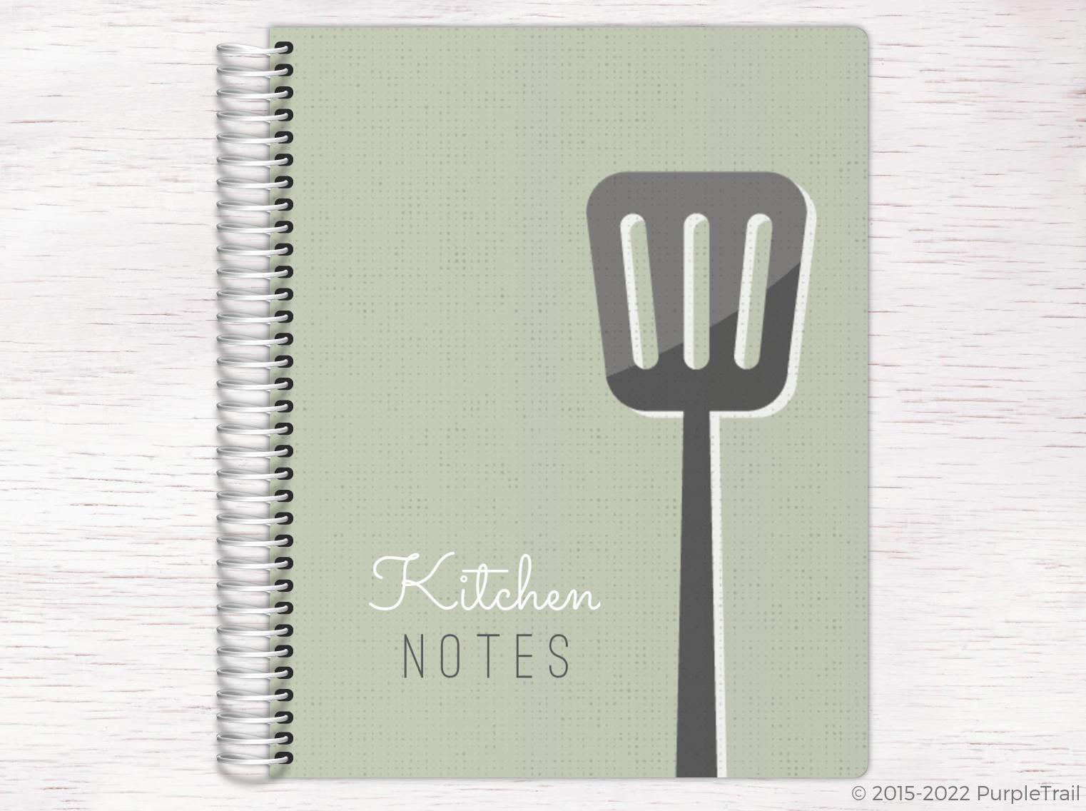 Vintage Kitchen Notes Custom Journal