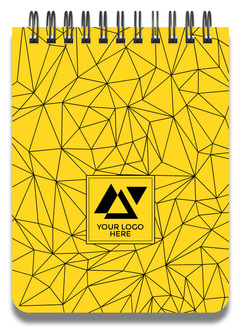 Bold Geometric Yellow Business Notepad