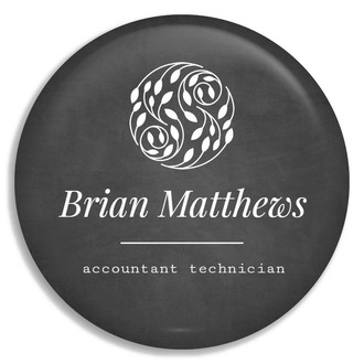 Chalkboard Name Tag Business Button