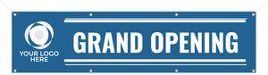 Custom Blue Stripe Grand Opening Business Banner