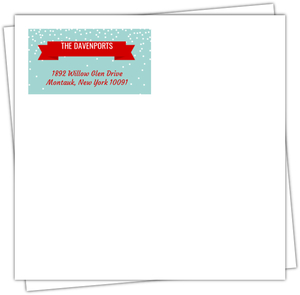 Festive Peppermint Custom Envelope