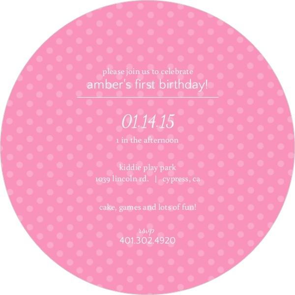 Pink Polka Dots 1St Birthday Invitation – Polka Dot First Birthday Invitations