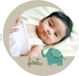 Elephant First Birthday Party Invite