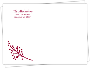 Formal Red Wreath Booklet Custom Envelope