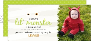 Mummy Monster Halloween Birthday Party Invitation