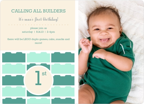 first birthday invitations & 1st birthday invites, Birthday invitations