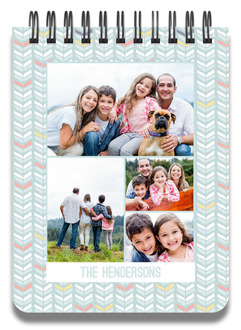 Chevron Photo Collage Notepad