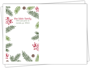 Festive Pine Needle Frame Custom Envelope