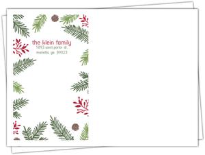 Festive Pine Needle Frame Envelope
