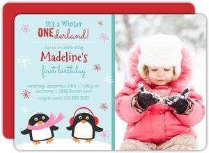 Winter One-Derland First Birthday Invite