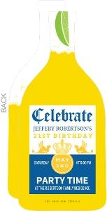 Beer Bottle 21St Birthday Party Invitation