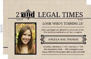 Extra Extra 21 And Legal Times 21St Birthday Invitation