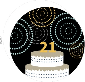 21St Birthday Celebration Cake Invites