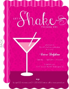 Shaken Not Stirred Martini 21St Birthday Invitation