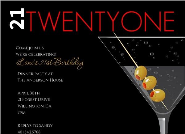 Editable 21st Birthday Invitations – Invitations 21st Birthday Party