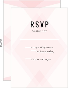 Modern Blush Pattern Wedding Response Card