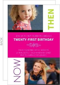 Looking Back 21St Birthday Photo Invitation