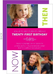 Looking Back 21st Birthday Photo Invitation