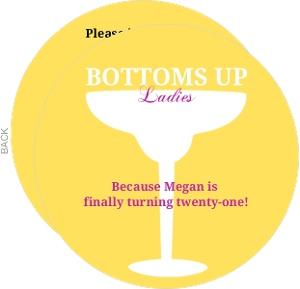 Bottoms Up Golden 21St Birthday Invite